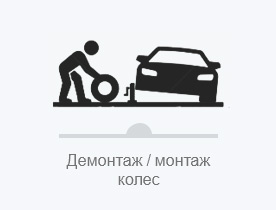 Демонтаж / монтаж колес